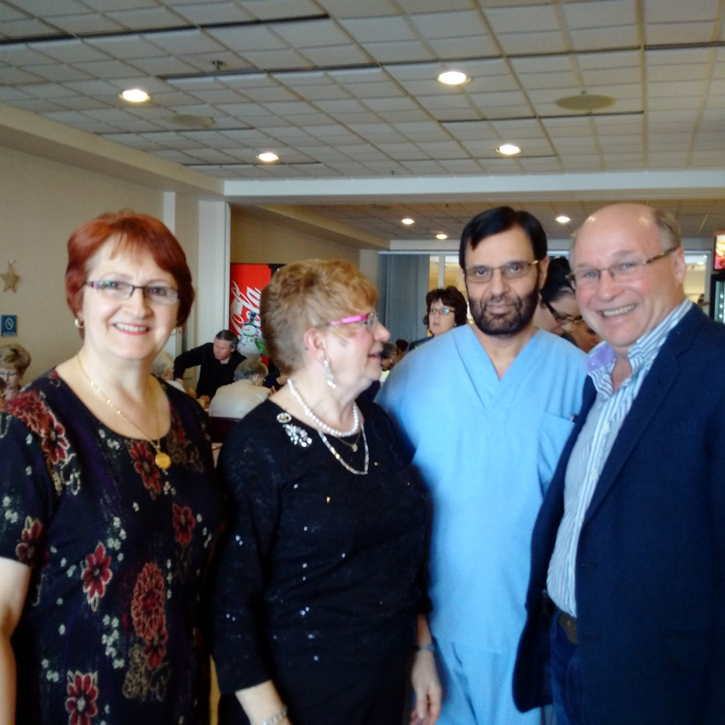 Linda Sheikh, Joan Barnstable and Dr. Khalid Sheikh at Joan's Retirement