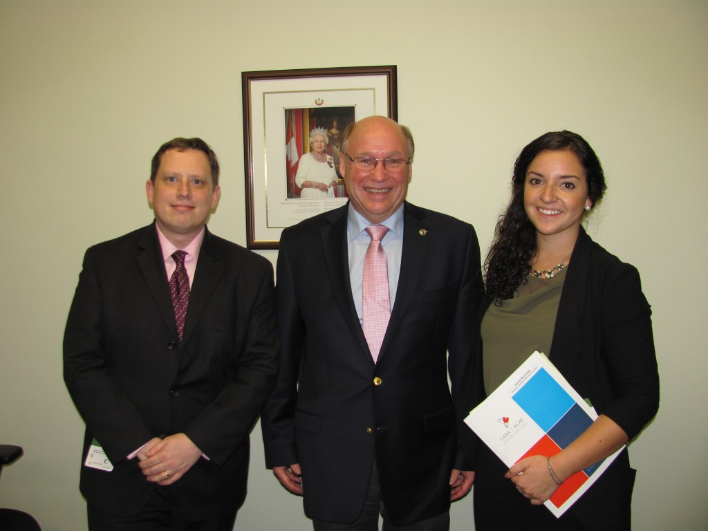 Duncan Wojtaszek, MP Kitchen, Danika McConnell - Canadian Alliance of Students Associations'
