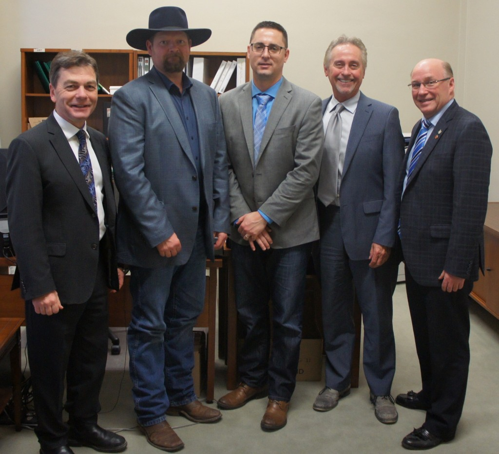 MP Anderson, Kelly Williamson, Chad MacPherson, MP Lukiwski, MP Kitchen - SK Stock Growers Association