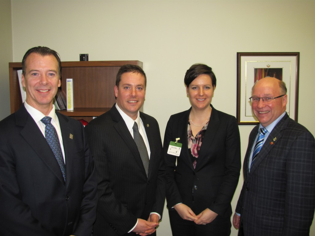 Dr. Robert David, MP Clarke, Dr. Michèle Corriveau, MP Kitchen - Canadian Chiropractic Association