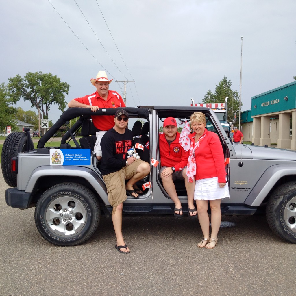 Canada Day Parade in Bienfait, SK.