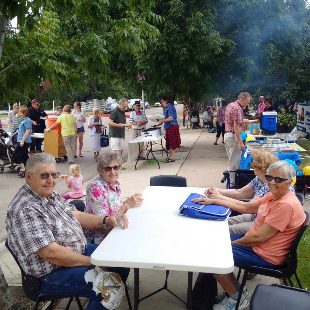 Constituents of Weyburn enjoying that BBQ!