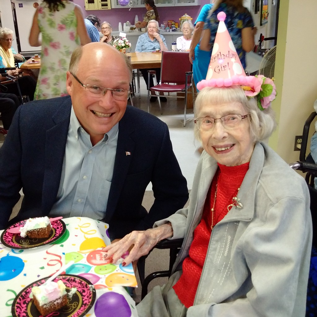 Frances Shattuck 100th Birthday in Oxbow
