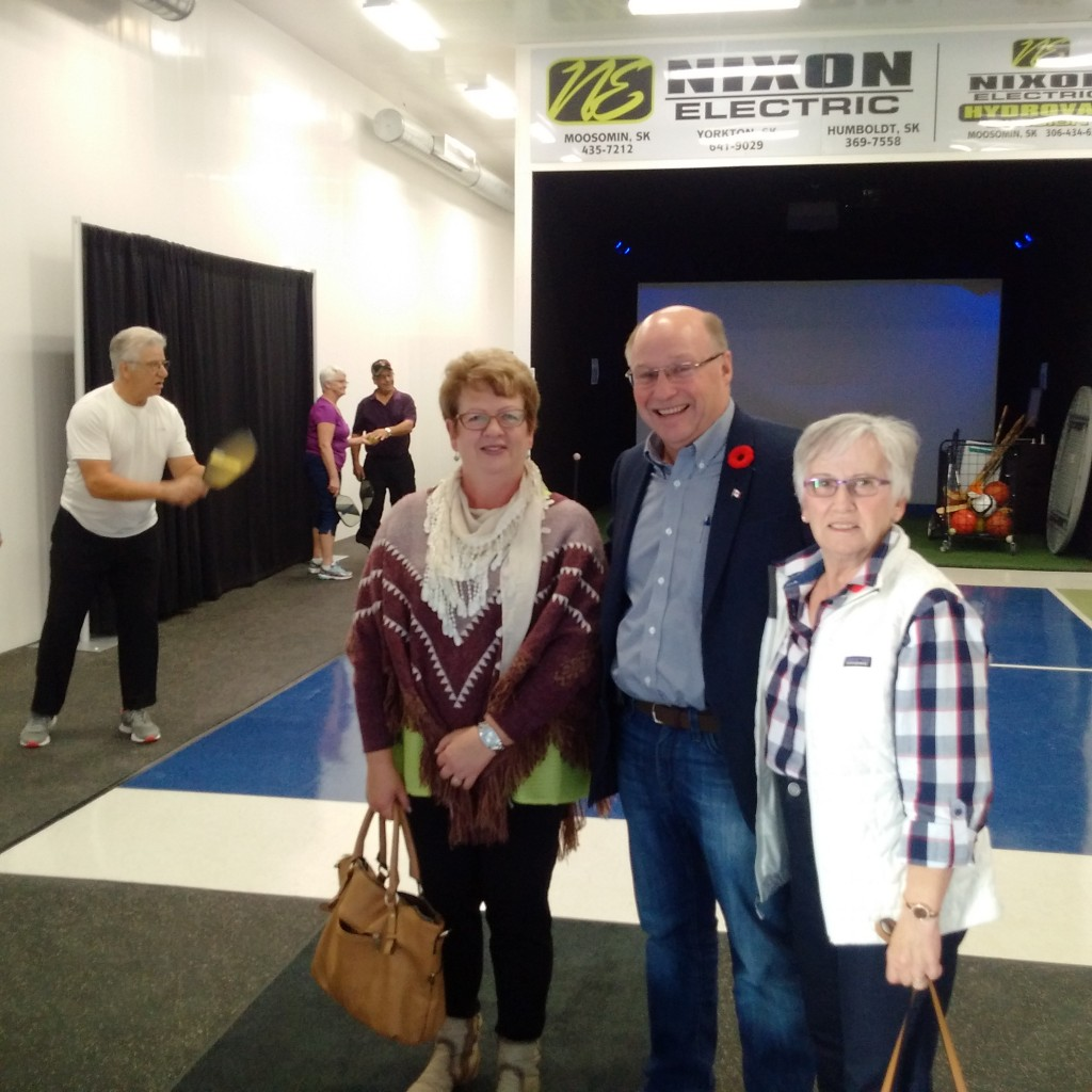 Joyce Roe and Jean Baily at the Moosomin Potash Corp Sportsplex