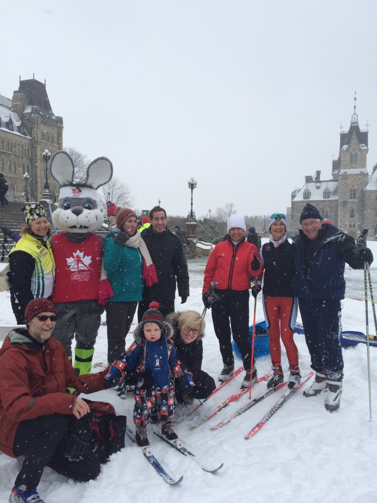 Having fun on Cross Country Ski-Day on the Hill