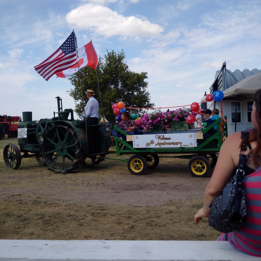 Start of the Parade - Souris Valley Antique Association 50th anniversary