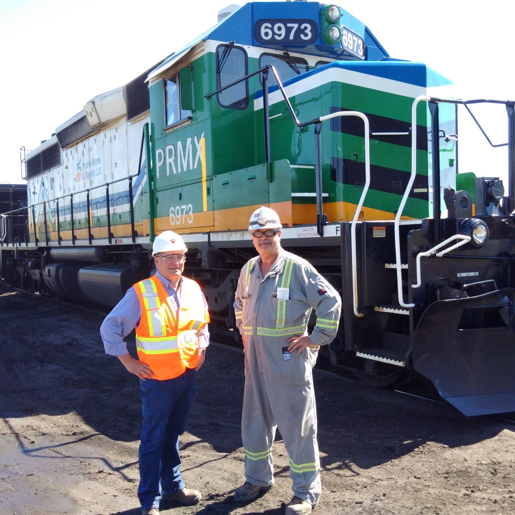 With Ron the Engineer just before he goes into the coalloader
