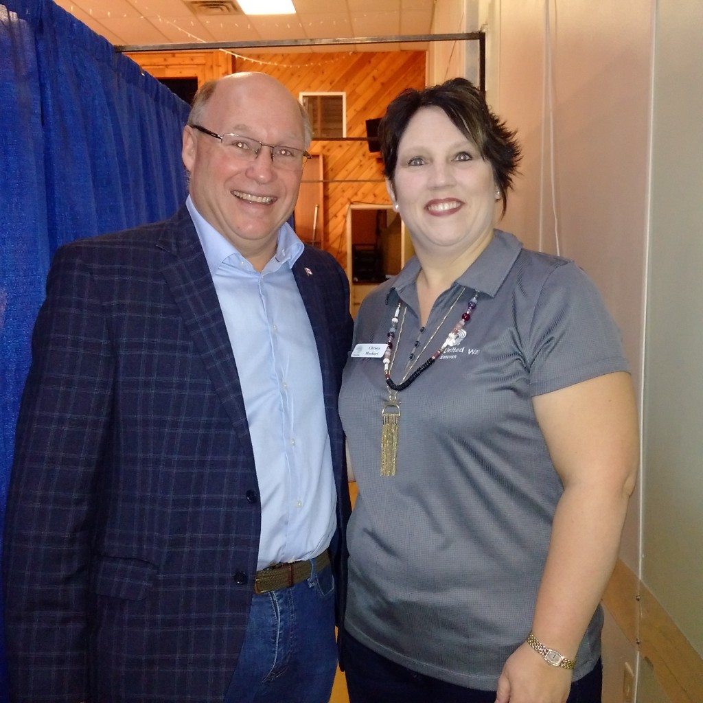 President of the Estevan United Way - Christa Mohart - opening of the 33 hour telethon to raise $325000