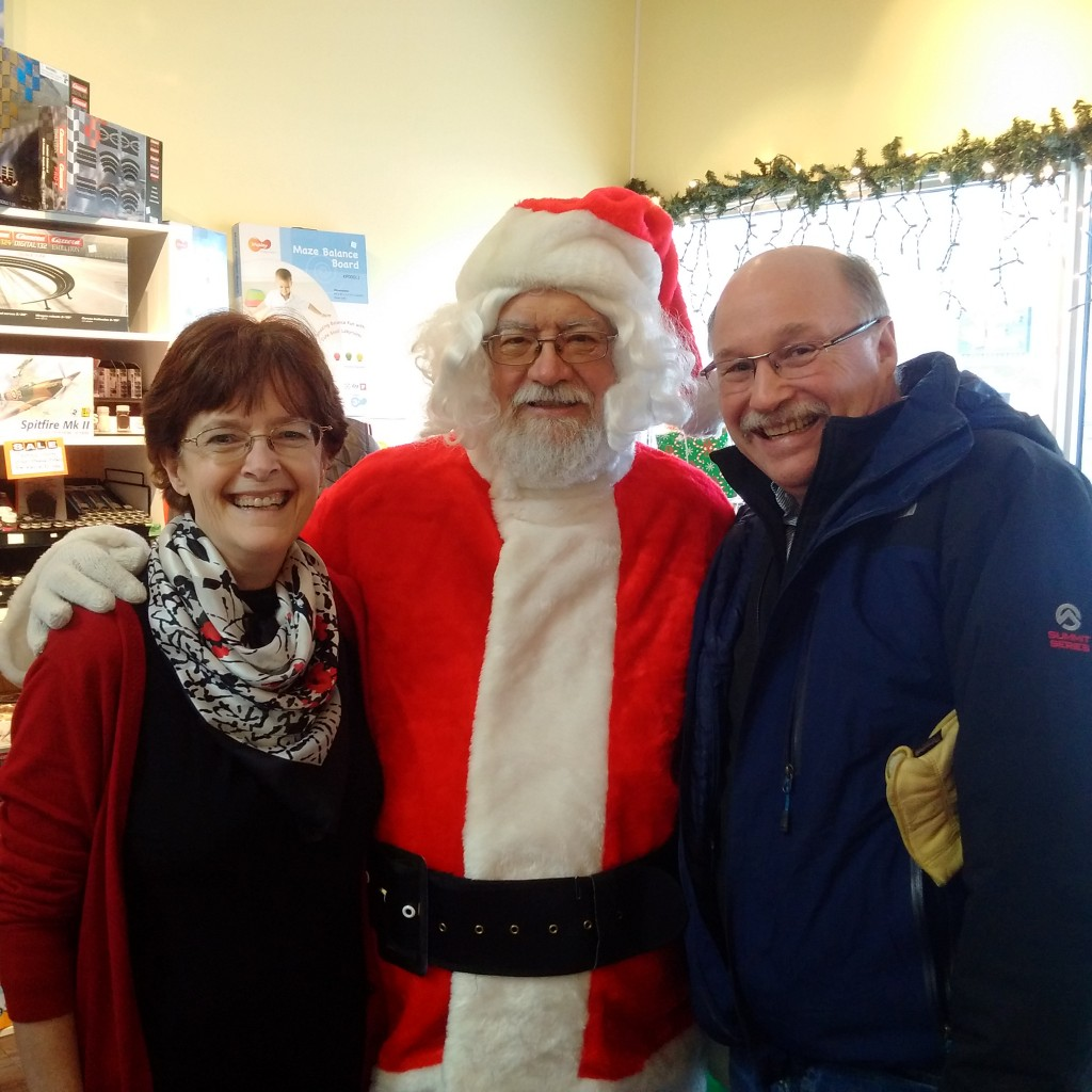 With Barry and Faye Harris at the grand opening of the Whistle Stop